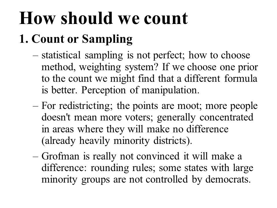 How should we count 1.