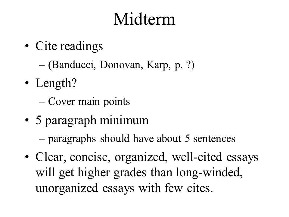 Midterm Cite readings –(Banducci, Donovan, Karp, p.