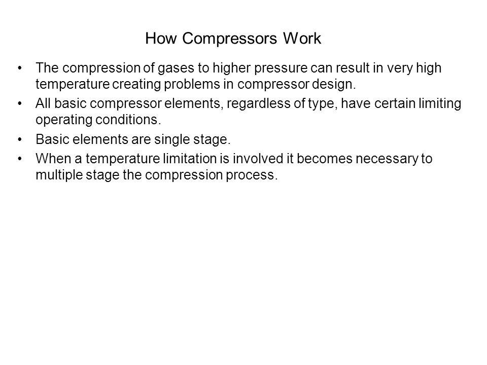 Dynamic Compressors - Centrifugal Three main types of impeller used in centrifugal compressors are: Open Impeller Semi-open Impeller Enclosed Impeller