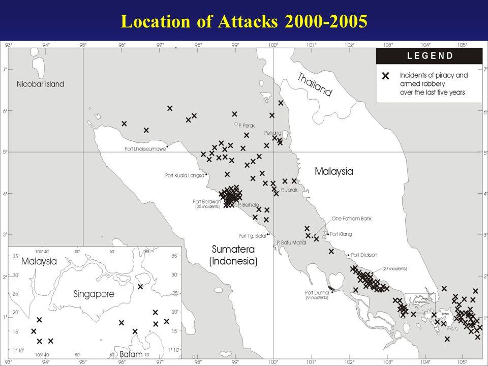Location of Attacks 2000-2005
