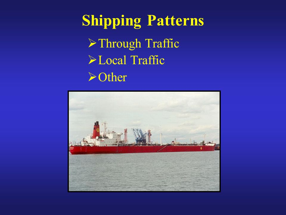 Shipping Patterns  Through Traffic  Local Traffic  Other