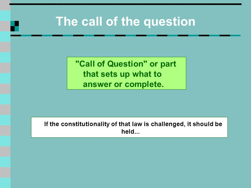 Options The possible choices that answer or complete the call of the question.