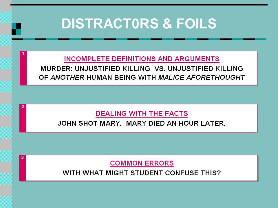 DISTRACT0RS & FOILS