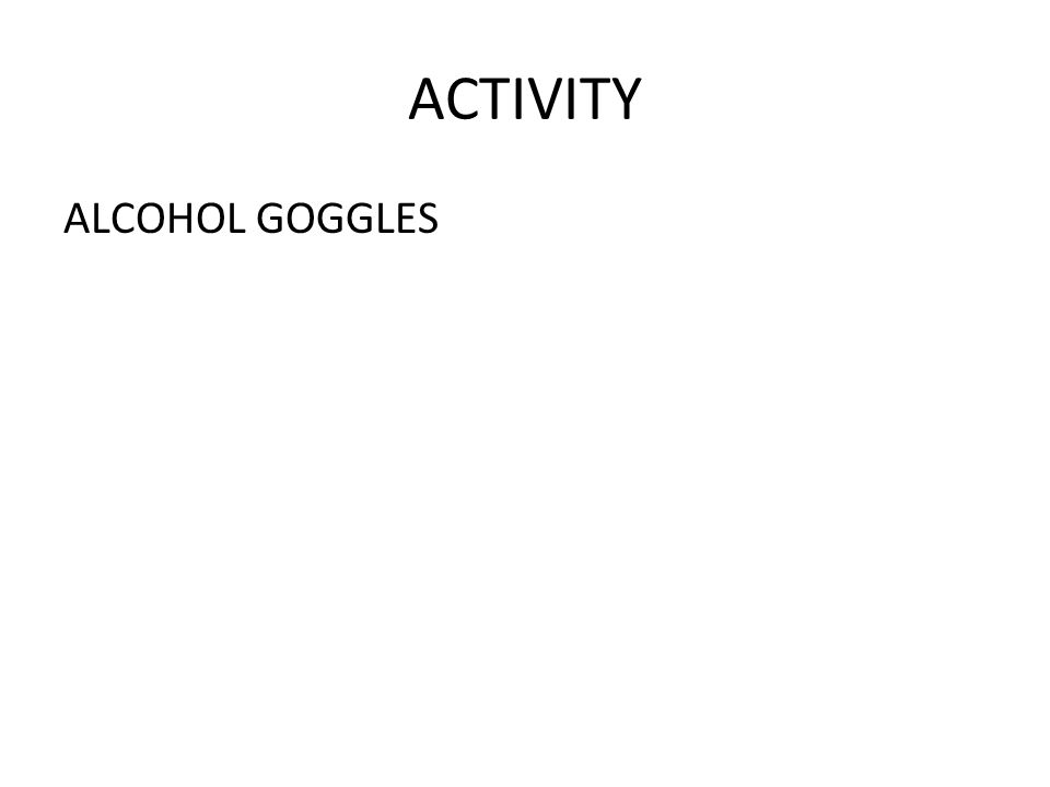 ACTIVITY ALCOHOL GOGGLES