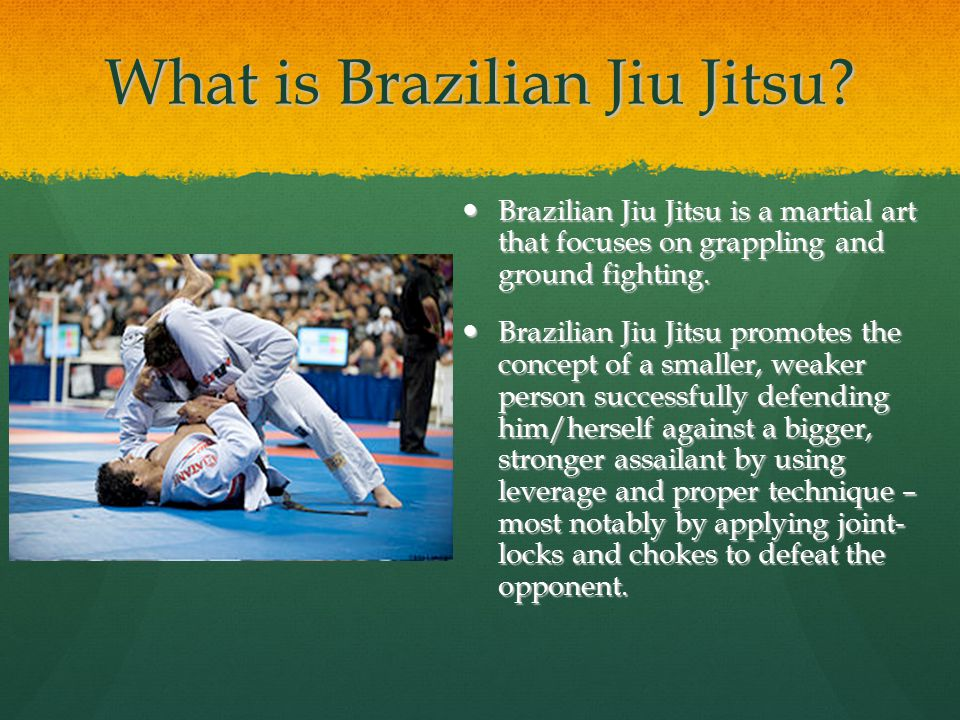 What is Brazilian Jiu Jitsu.