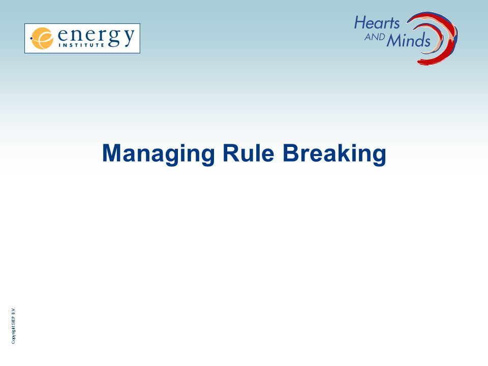 Managing Rule Breaking