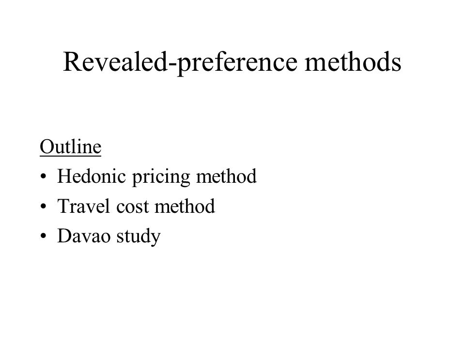 Types of travel cost models Zonal: average data on visitors; a given site Individual: data on individual visitors; a given site Multi-site (ditto): data on individual visitors; a set of sites Hedonic: average or individual data on visitors; characteristics of a given site
