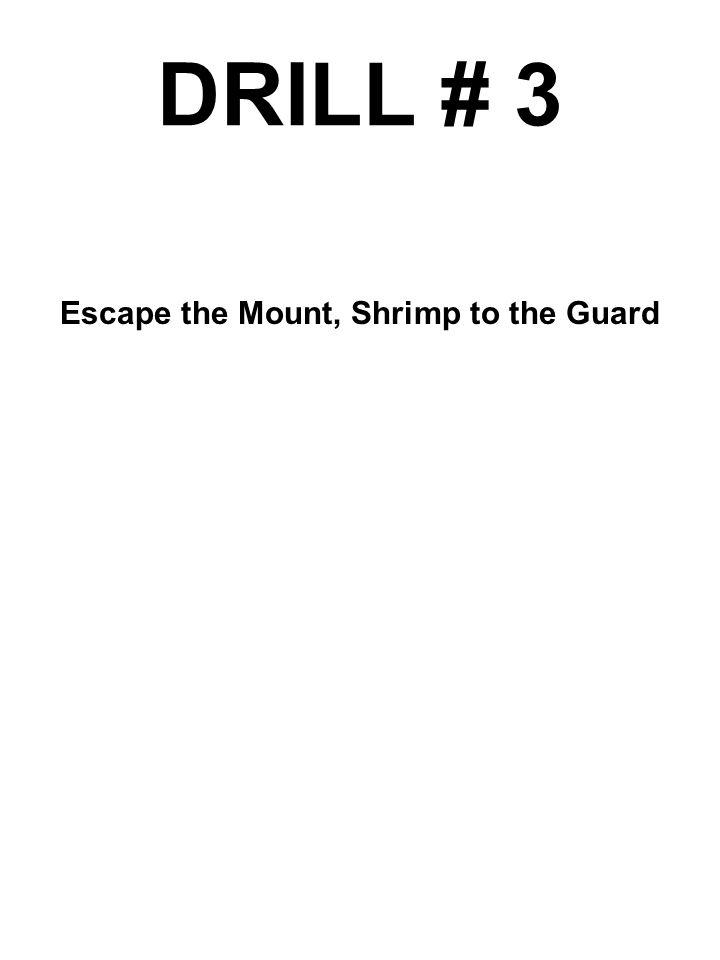 DRILL # 3 Escape the Mount, Shrimp to the Guard