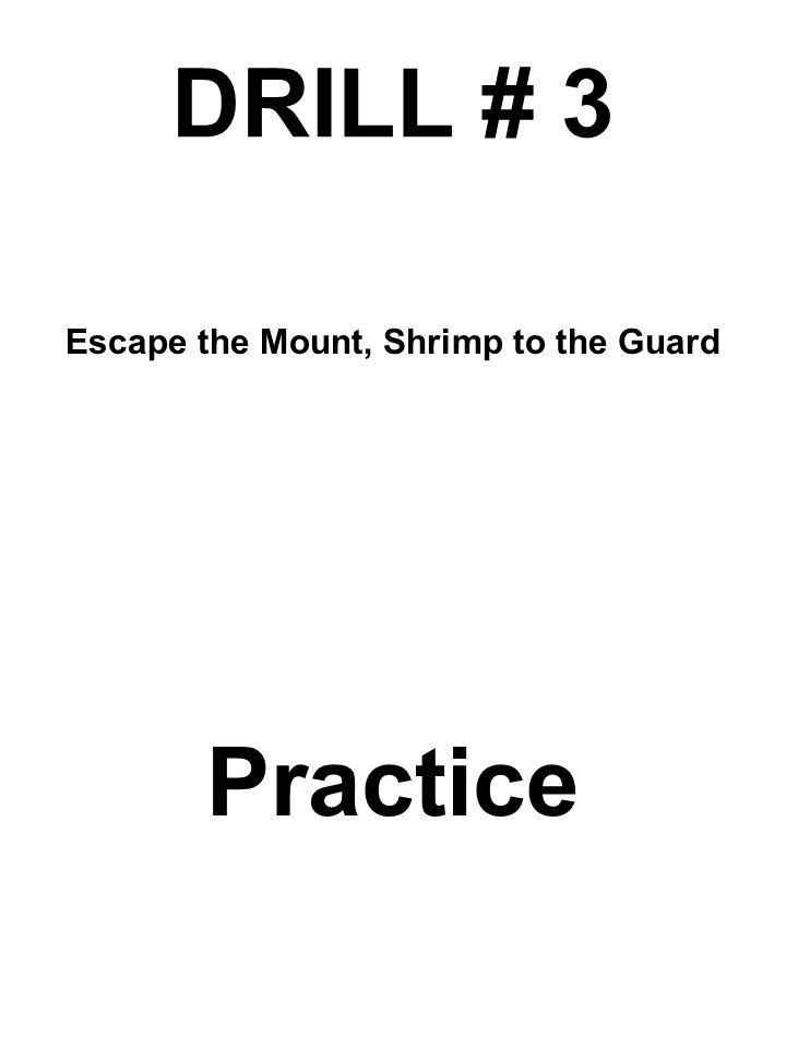 DRILL # 3 Escape the Mount, Shrimp to the Guard Practice