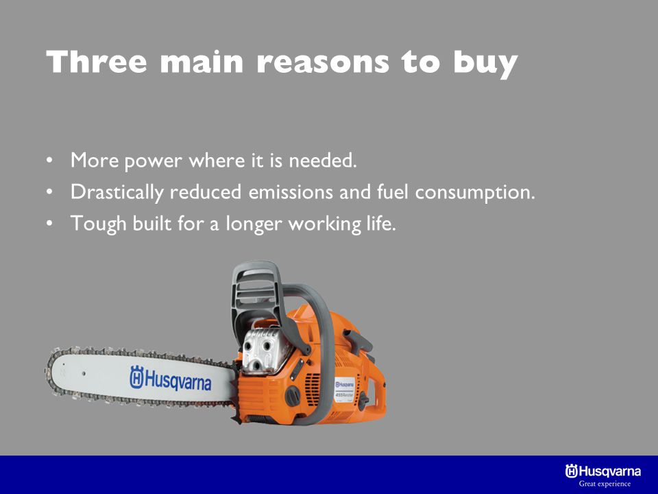 Three main reasons to buy More power where it is needed.