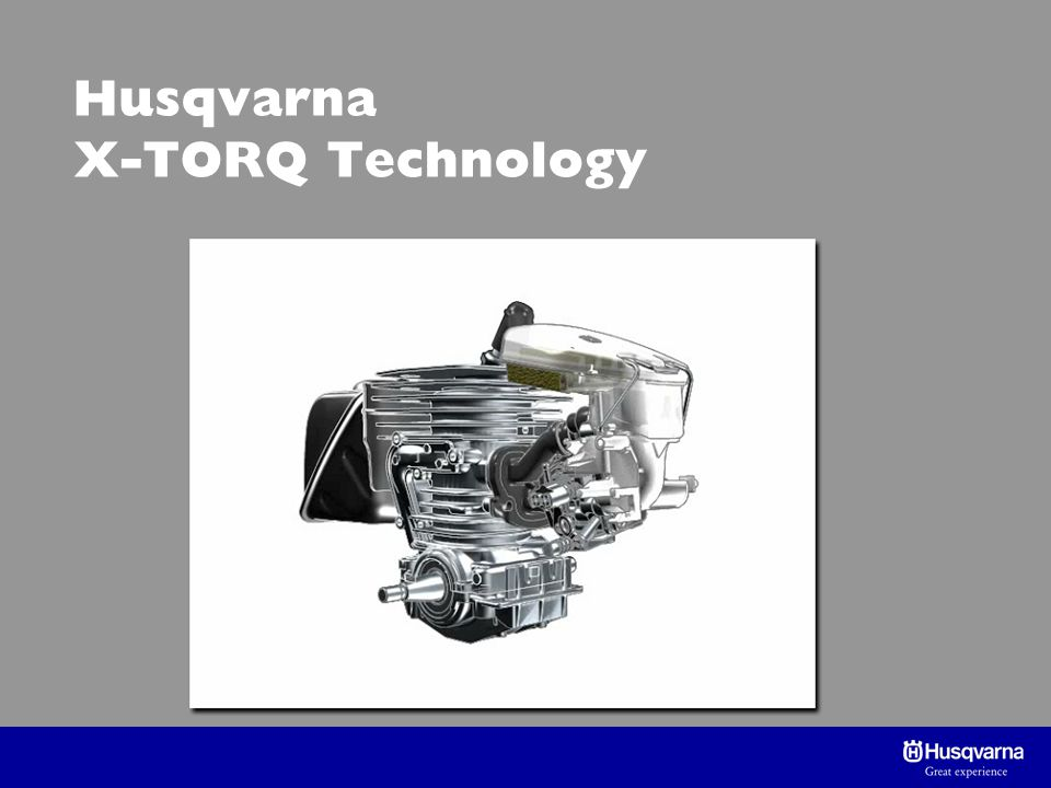 Husqvarna X-TORQ Technology