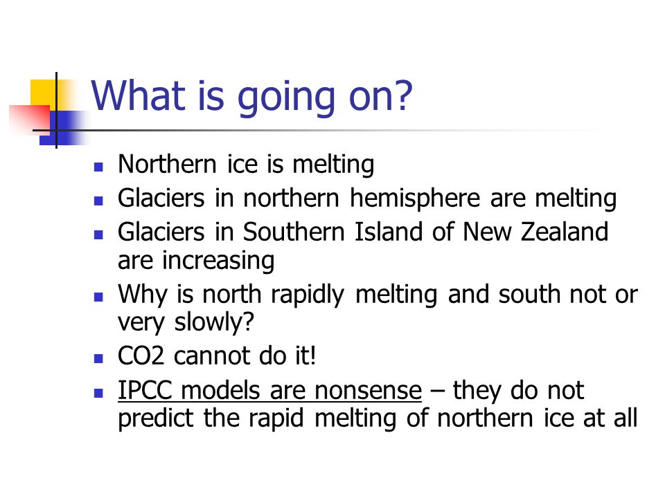 Probable answer: SOOT – C and particles, not CO2 CO2 does other harm- Changing the acidity of the ocean – destroying corals