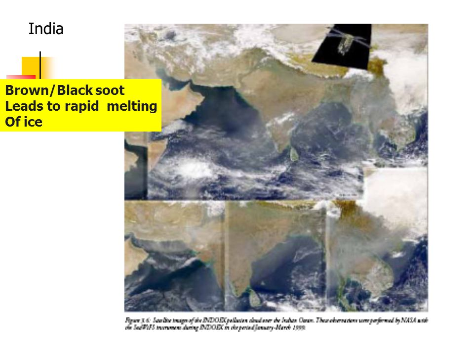 India Brown/Black soot Leads to rapid melting Of ice