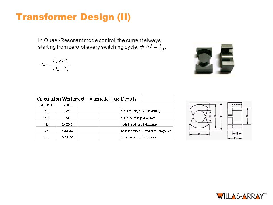 Transformer Design (II) In Quasi-Resonant mode control, the current always starting from zero of every switching cycle. 