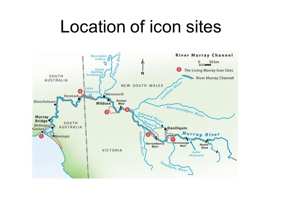 Location of icon sites