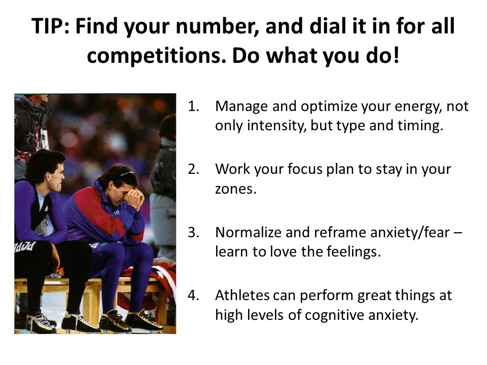 TIP: Find your number, and dial it in for all competitions.