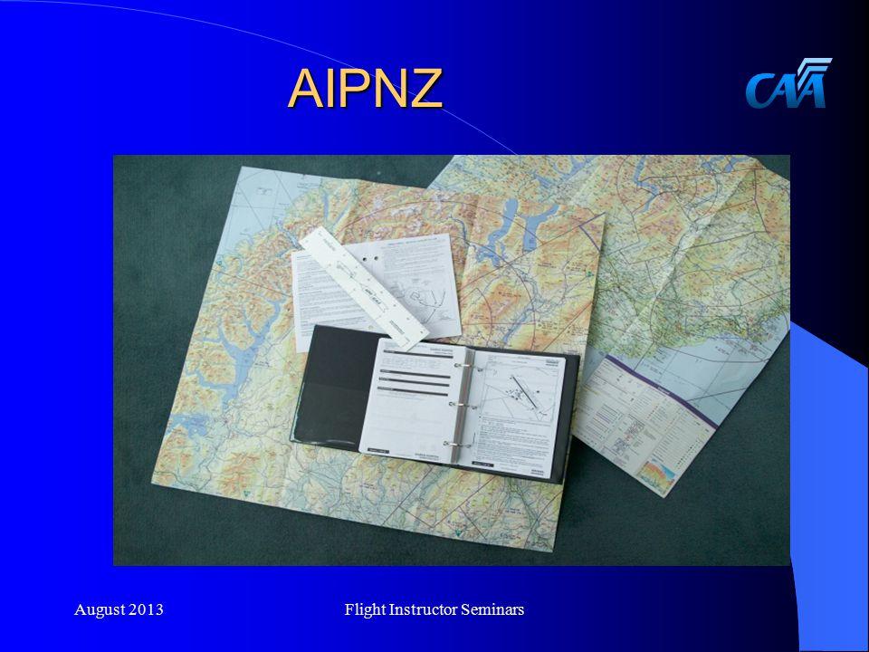 AIPNZ August 2013Flight Instructor Seminars