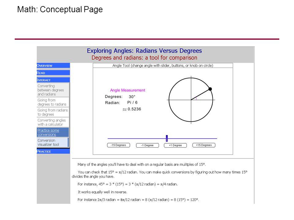 Math: Conceptual Page