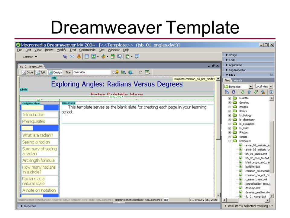 Dreamweaver Template