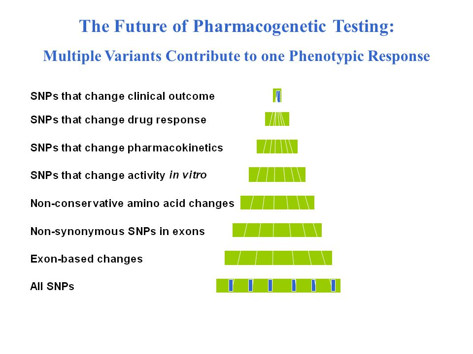 The Future of Pharmacogenetic Testing: Multiple Variants Contribute to one Phenotypic Response