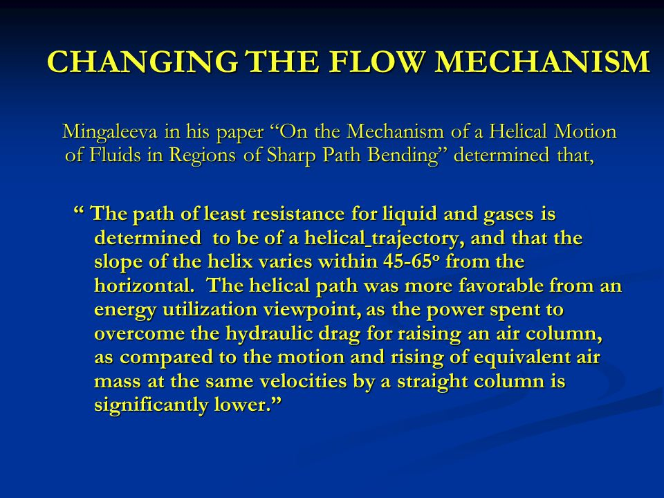 FLOW MODIFYING TOOLS  Technology used in the coal and potash industries for almost a decade.