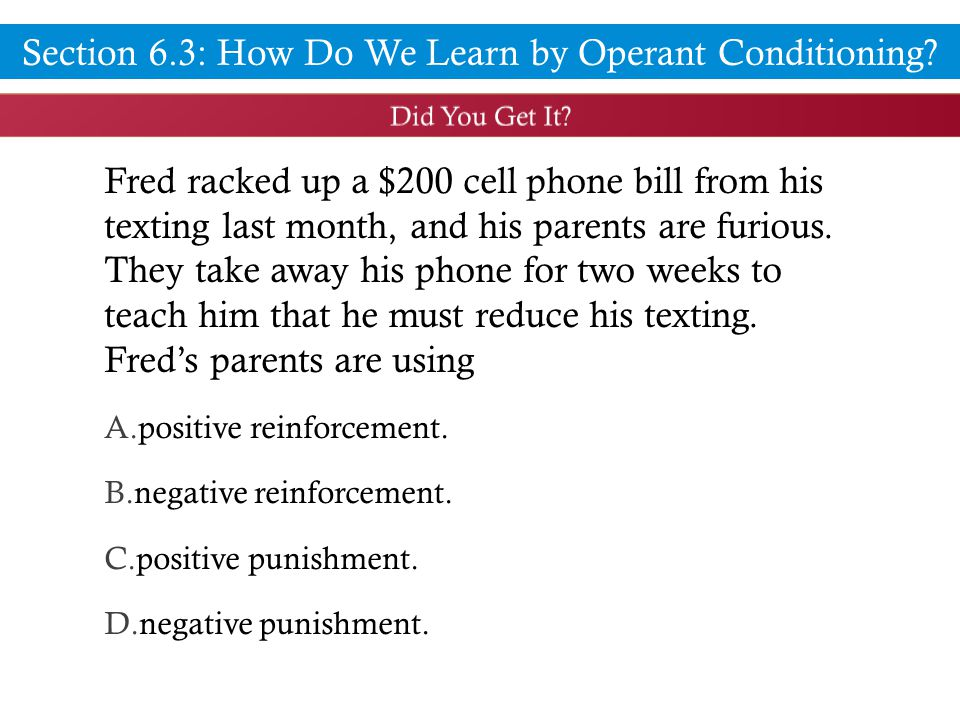 Fred racked up a $200 cell phone bill from his texting last month, and his parents are furious.