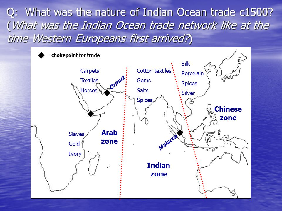 Q: What was the nature of Indian Ocean trade c1500.