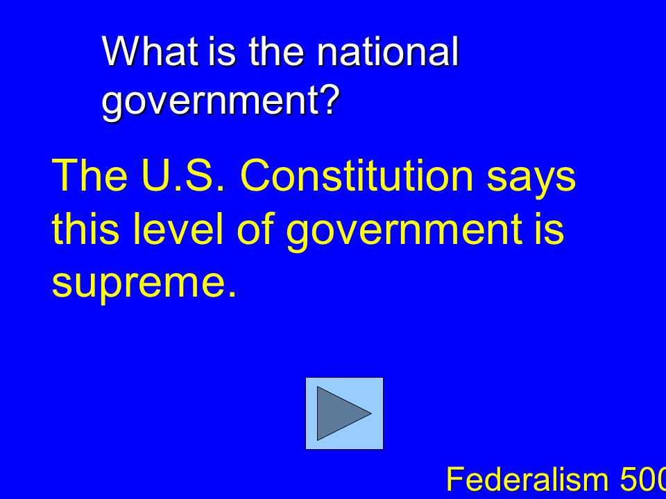What are enumerated powers. Powers that are specifically given to the national government.