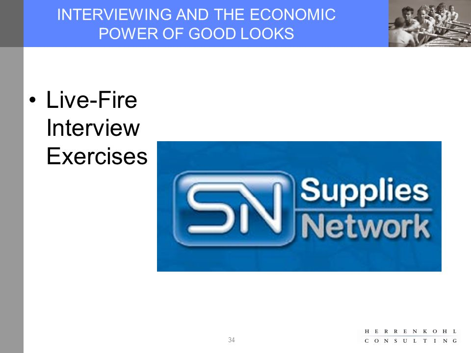 34 INTERVIEWING AND THE ECONOMIC POWER OF GOOD LOOKS Live-Fire Interview Exercises