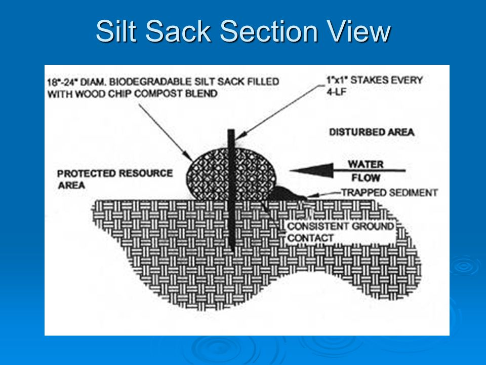 Silt Sack Section View