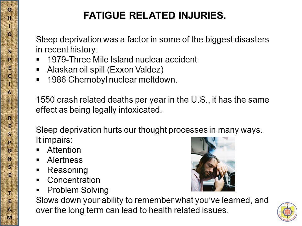 FATIGUE RELATED INJURIES.