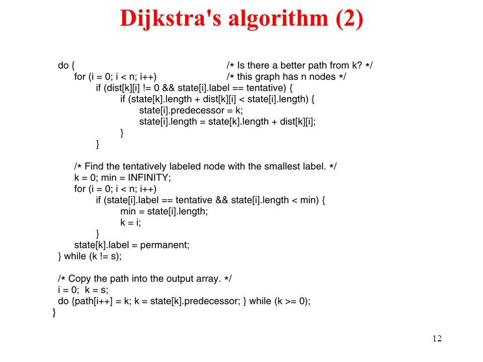 12 Dijkstra s algorithm (2) 5-8 bottom