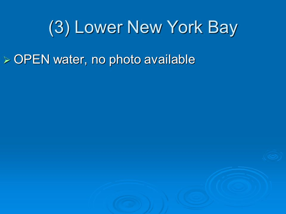 (3) Lower New York Bay  OPEN water, no photo available