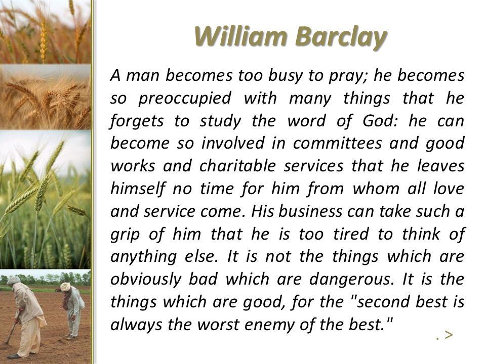 William Barclay.