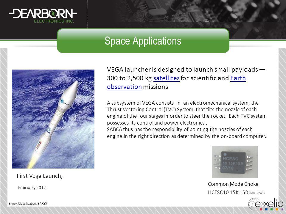 Space Applications VEGA launcher is designed to launch small payloads — 300 to 2,500 kg satellites for scientific and Earth observation missionssatell