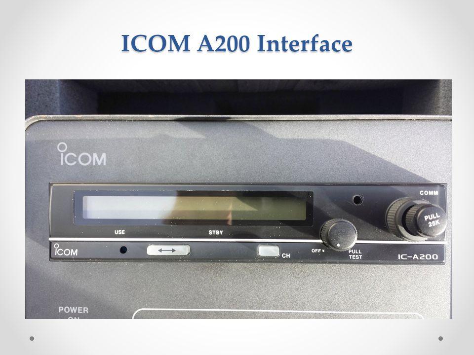 ICOM A200 Interface
