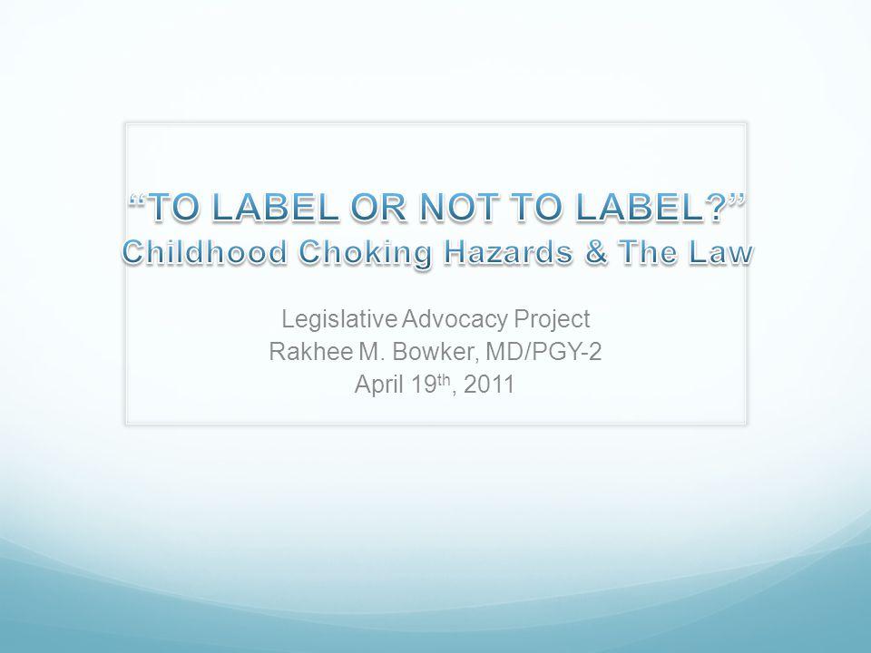 Legislative Advocacy Project Rakhee M. Bowker, MD/PGY-2 April 19 th, 2011