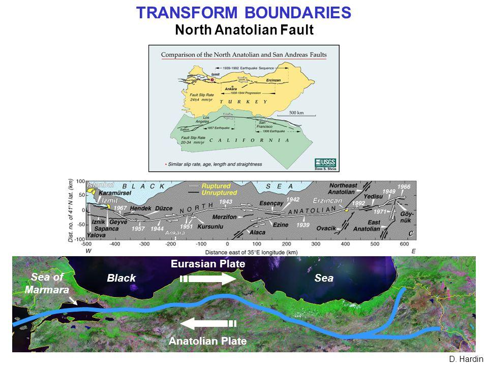TRANSFORM BOUNDARIES North Anatolian Fault D.