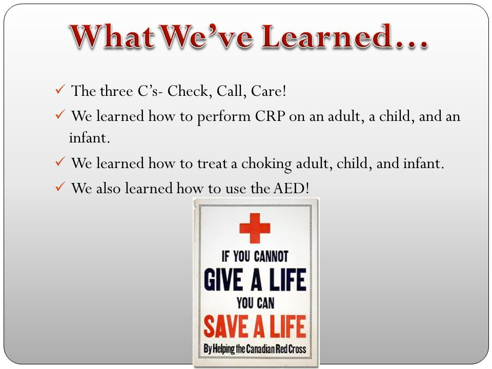 Step 1-3 Turn on AED Wipe chest dry Plug in connector if necessary Step 4 Make sure no one, including yourself, is touching the victim Say everyone stand clear! Push shock button if necessary WHAT TO DO NEXT- After shock, give 5 cycles or about 2 minutes of CPR.