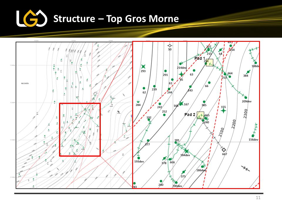 11 Structure – Top Gros Morne Pad 1 Pad 2