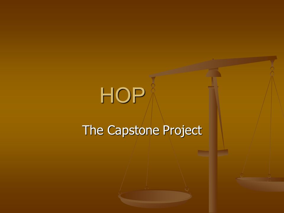 HOP The Capstone Project