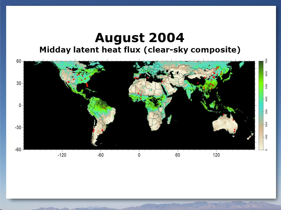 August 2004 Midday latent heat flux (clear-sky composite)