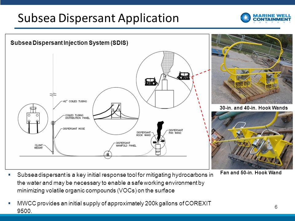 Subsea Dispersant Application 6 Subsea Dispersant Injection System (SDIS) 30-in.