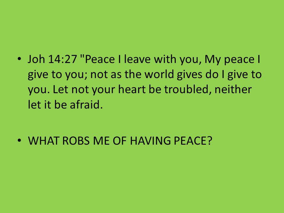 Joh 14:27