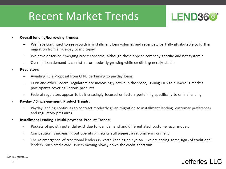 Valuation Trends – EV/LTM EBITDA Jefferies LLC Source: Jefferies LLC / FactSet / company data.