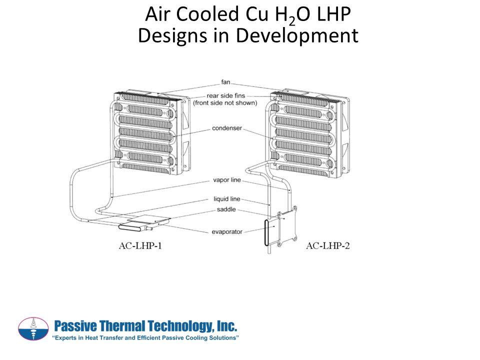 Air Cooled Cu H 2 O LHP Designs in Development