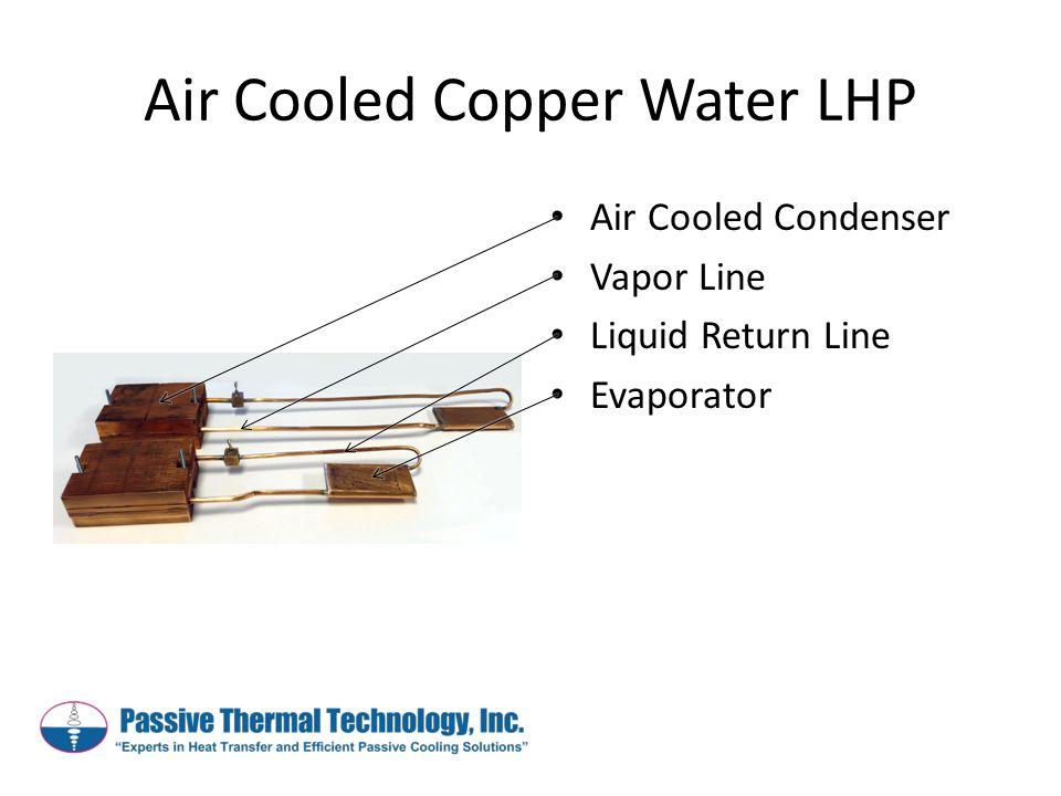 Air Cooled Copper Water LHP Air Cooled Condenser Vapor Line Liquid Return Line Evaporator