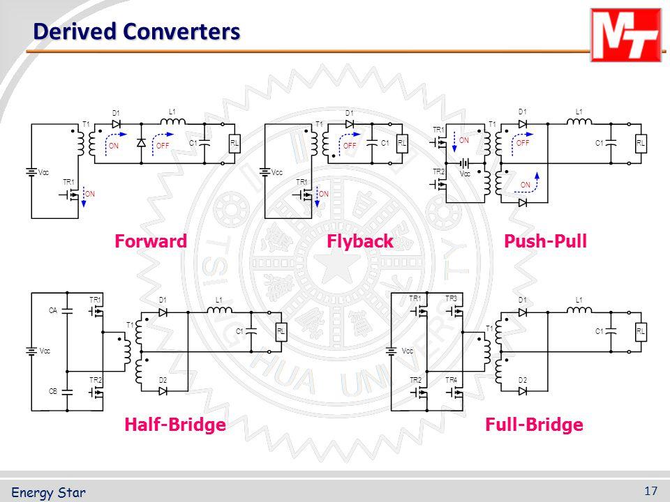Derived Converters ForwardFlybackPush-Pull Half-BridgeFull-Bridge 17 Energy Star