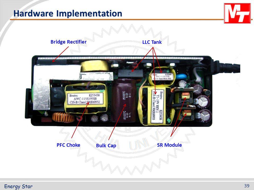 PFC Choke Bulk Cap SR Module Bridge Rectifier LLC Tank Hardware Implementation Energy Star 39