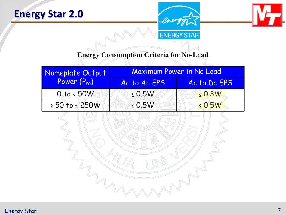 Energy Star 2.0 7 Energy Star